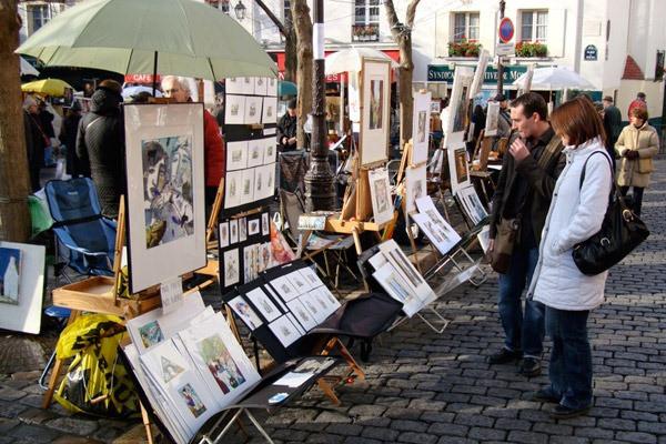 Praça dos Pintores - Paris França