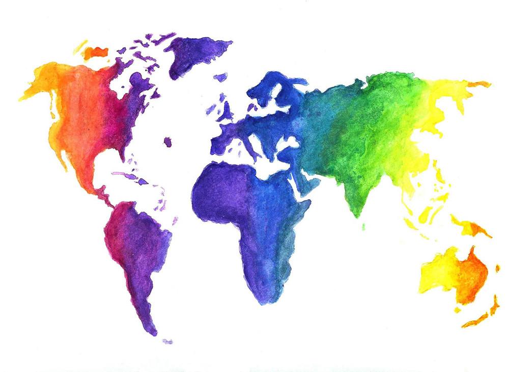 desenho de mapa mundi