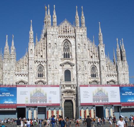 O Duomo de Milão na Itália