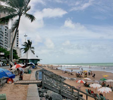 Curtindo a praia da Boa Viagem no Recife