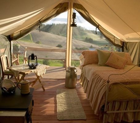 Glamping, uma nova forma de acampamento.