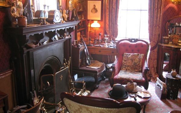 Sala de estar - Sherlock Holmes - Museu - Londres - Inglaterra