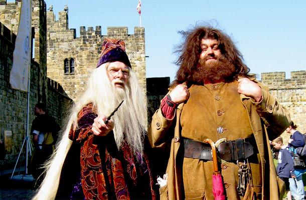 Dumbledore - Hagrid - Castelo Alnwick - Inglaterra