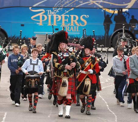 Glasgow, cidade da música na Escócia.