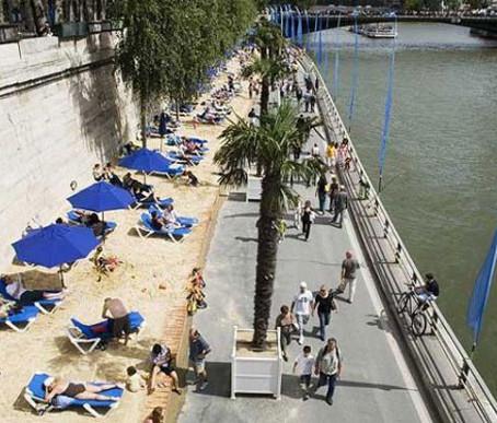 Paris Plage 2010 – Sol Tropical e diversão no coração da cidade.