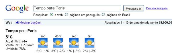 Clima e temperatura em Paris