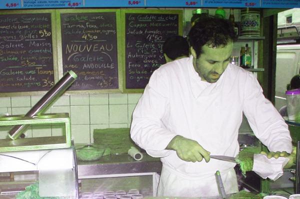 Preparando Crepre - Au Petit Grec
