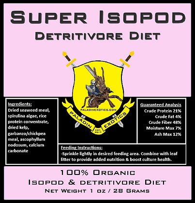Super Isopod Detritivore Diet 1oz