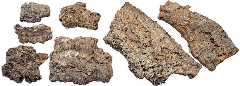 Virgin Cork Bark Hides - Multiple Sizes - Flats & Pressed Rounds