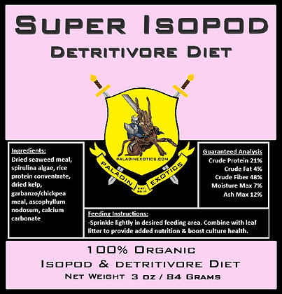 Super Isopod Detritivore Diet 3oz