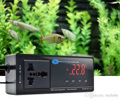 Reptile Thermostat - Digital Switchable Temperature Controller Heat/Cool