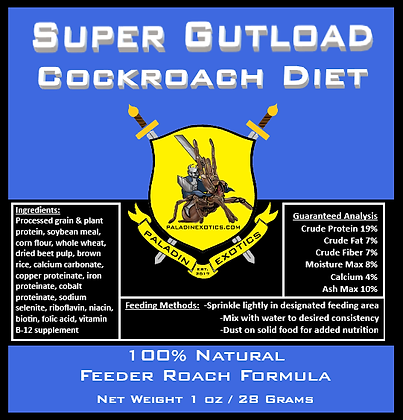 Super Gutload Cockroach Diet 1 oz