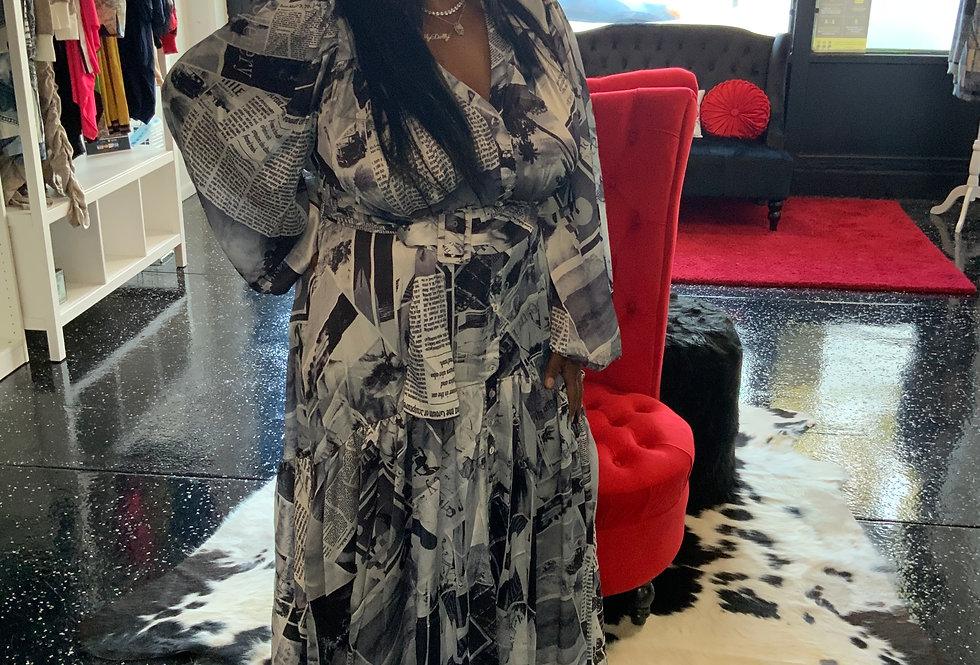 Classy Magazine Maxi Dress
