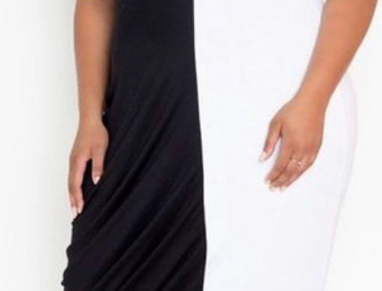 Two Toned Maxi Dress