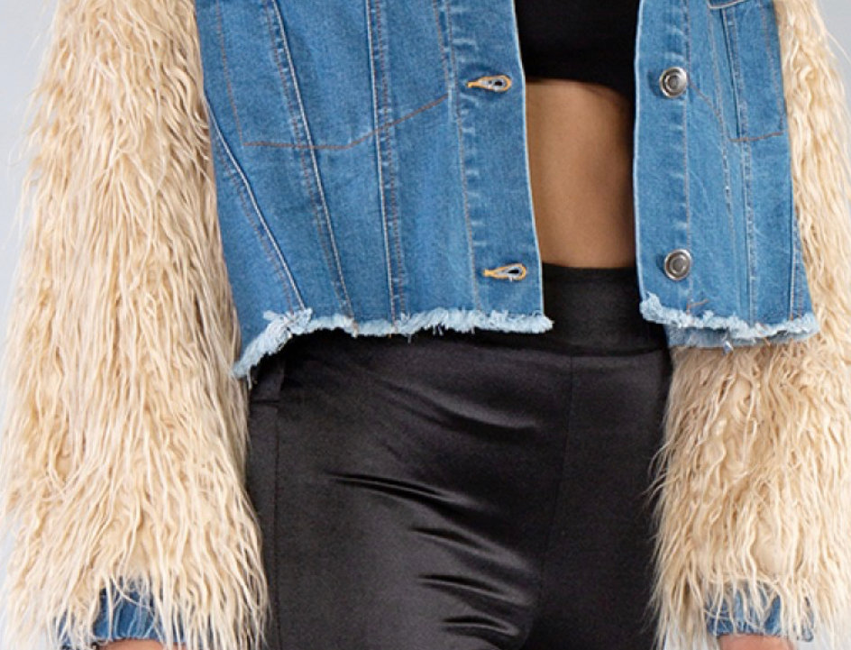 Fringed Fux Fur Jacket
