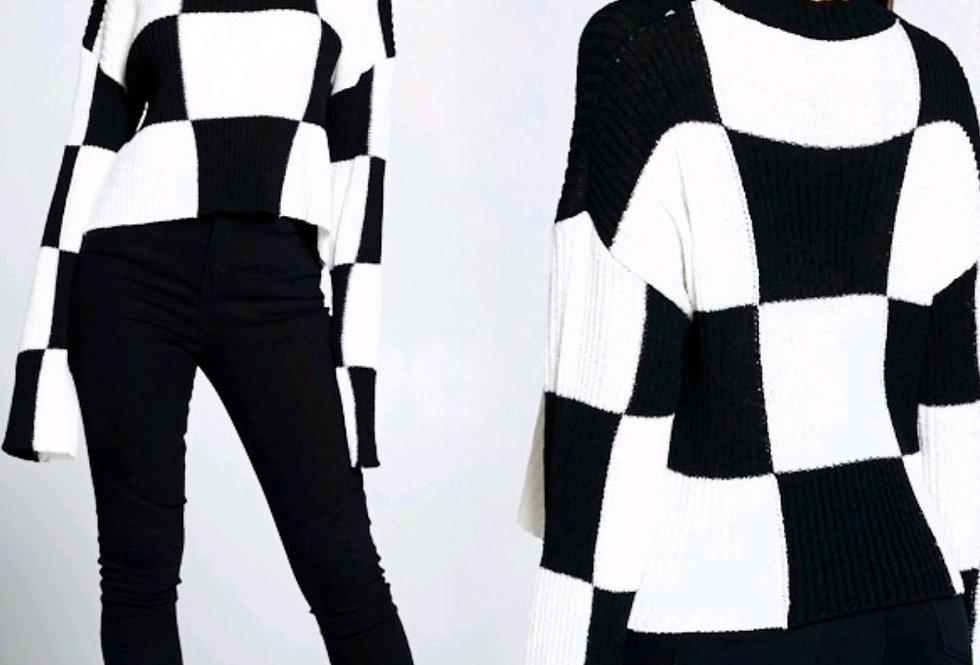 Checker Delight Sweater
