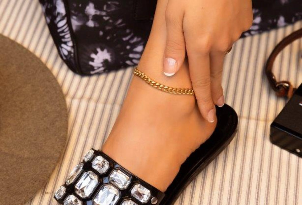 Diamond In The Ruff Bling Sandals