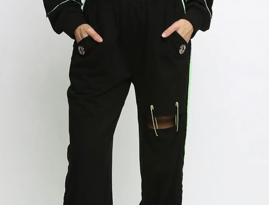 Pin It Up Neon Lights Jogger Set