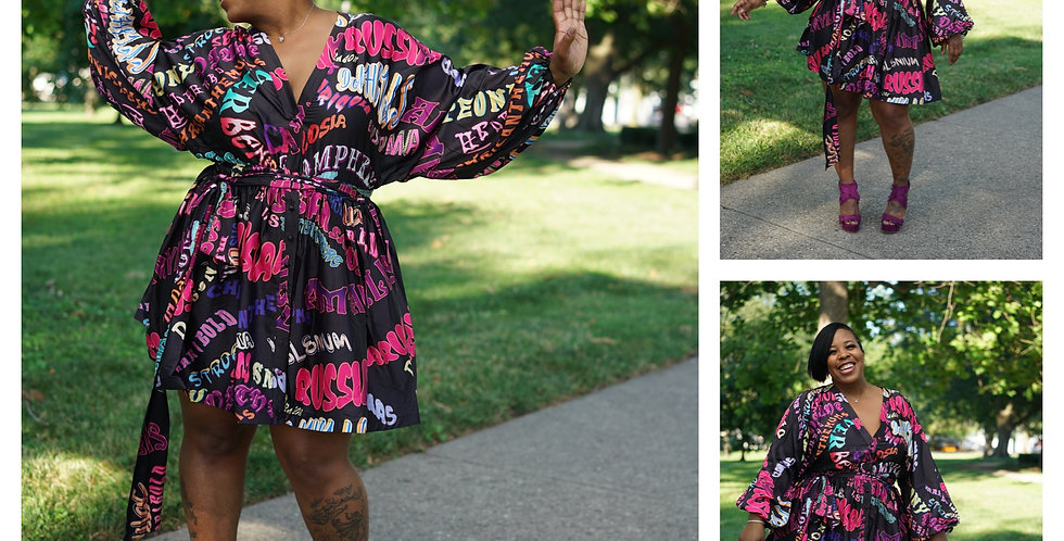 Graffiti Girl Classic Dress