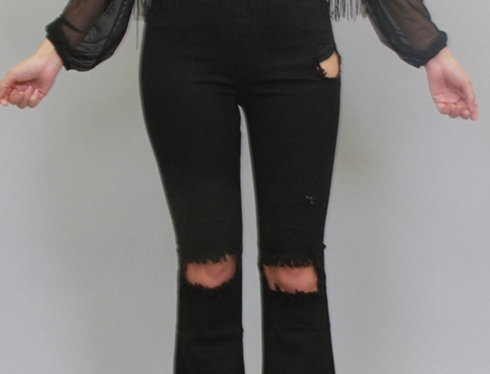Peekaboo Bell Bottom Jeans