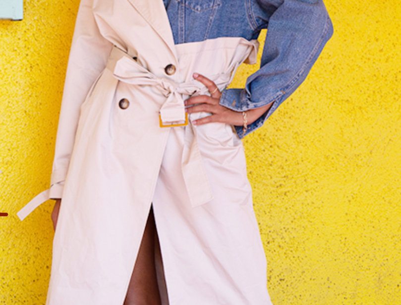 Double Sided Jean Trench Coat