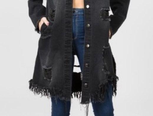 Distressed Girl Denim Jacket