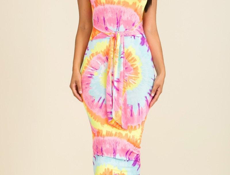 Tie Dye Body- Con Dress