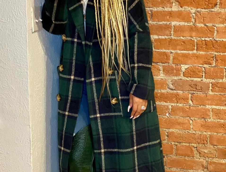 First Lady Plaid Coat