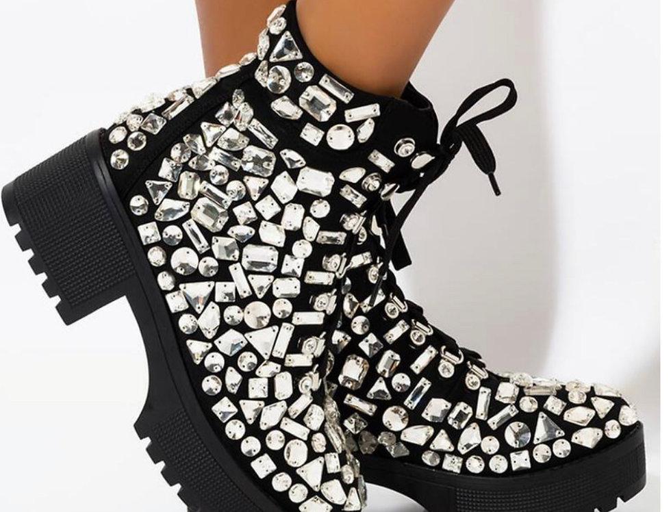 Razzle Dazzle Crystal Studded Boot