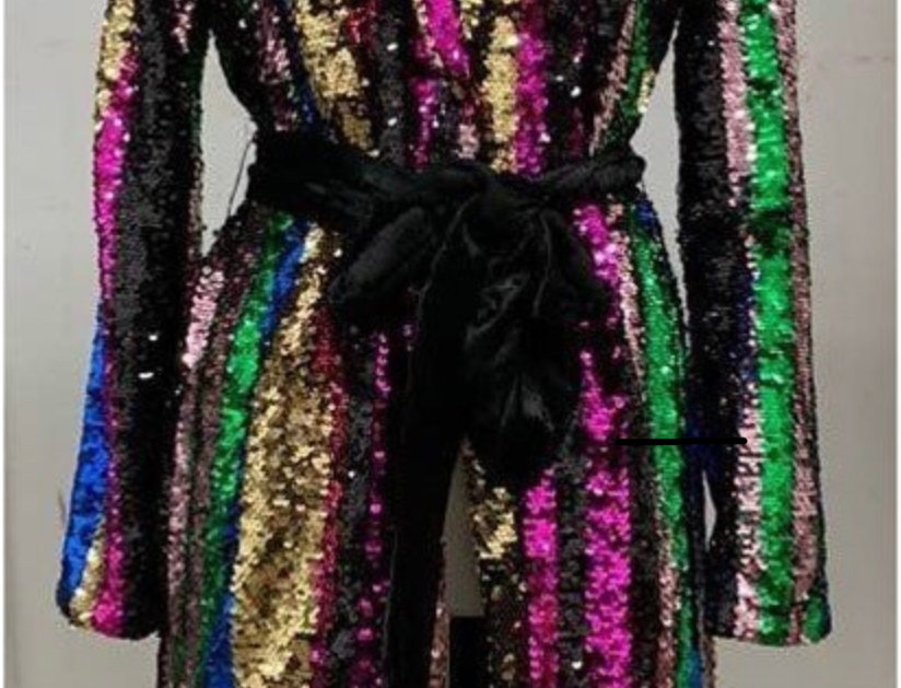 Holiday Glam Sequins Jacket