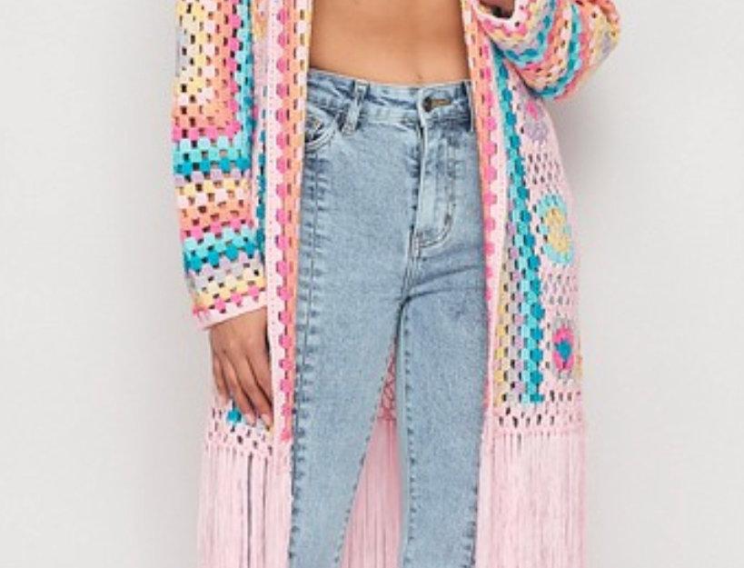 Colorful Crochet Cardigan