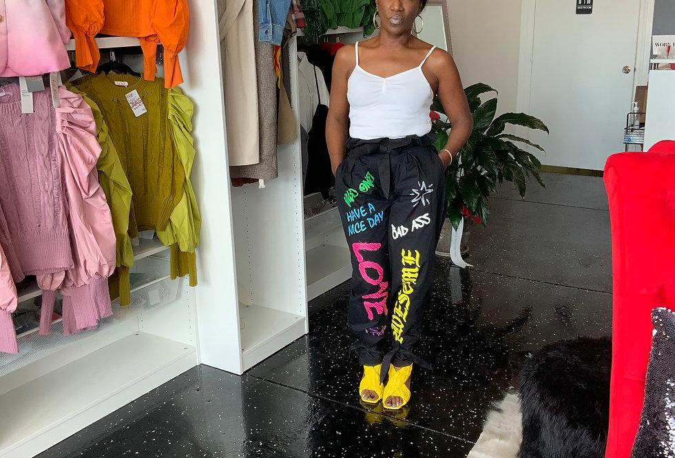 Graffiti Girl Baggy Pants