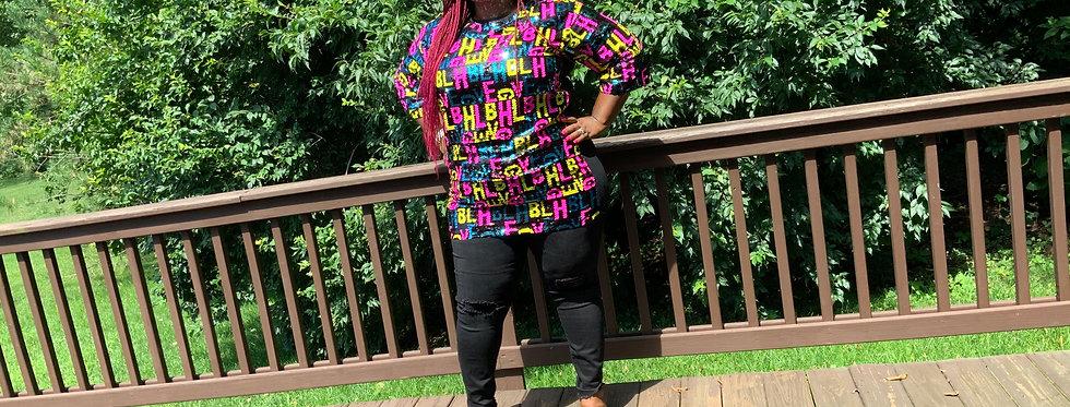 Neon Lights Sequins Shirt