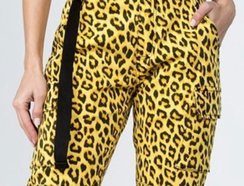 Yellow Leopard Girl Pants