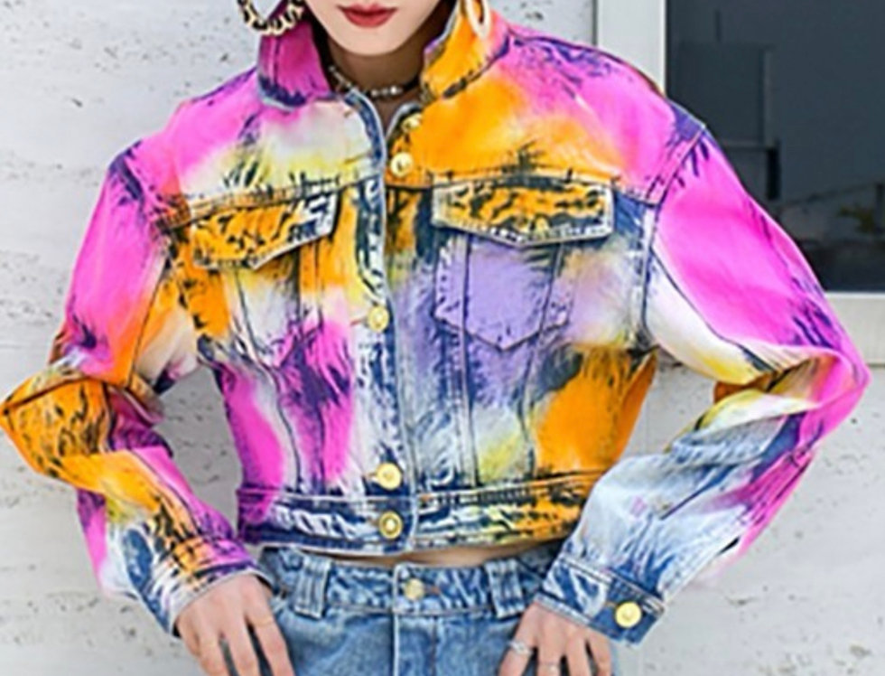 Tie Dye Fun Girl Jacket