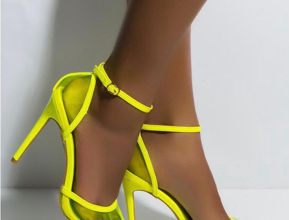 Crazy Neon Lime Heel
