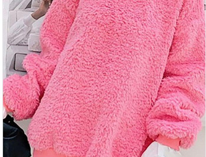 Pretty In Pink Peekaboo Oxford Fleece Shirt