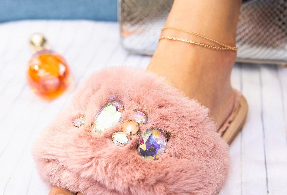 Fur Bling Sandal