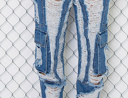 Distress City Girl Jeans