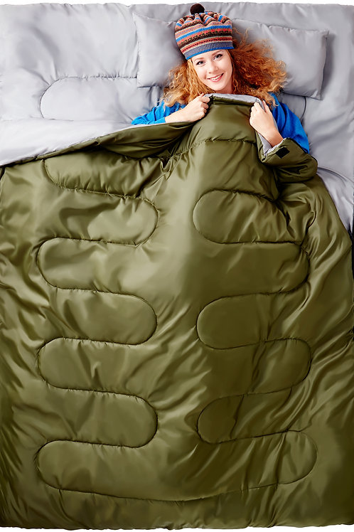 Double Sleeping Bag For Backpacking, Camping, Or Hiking.!