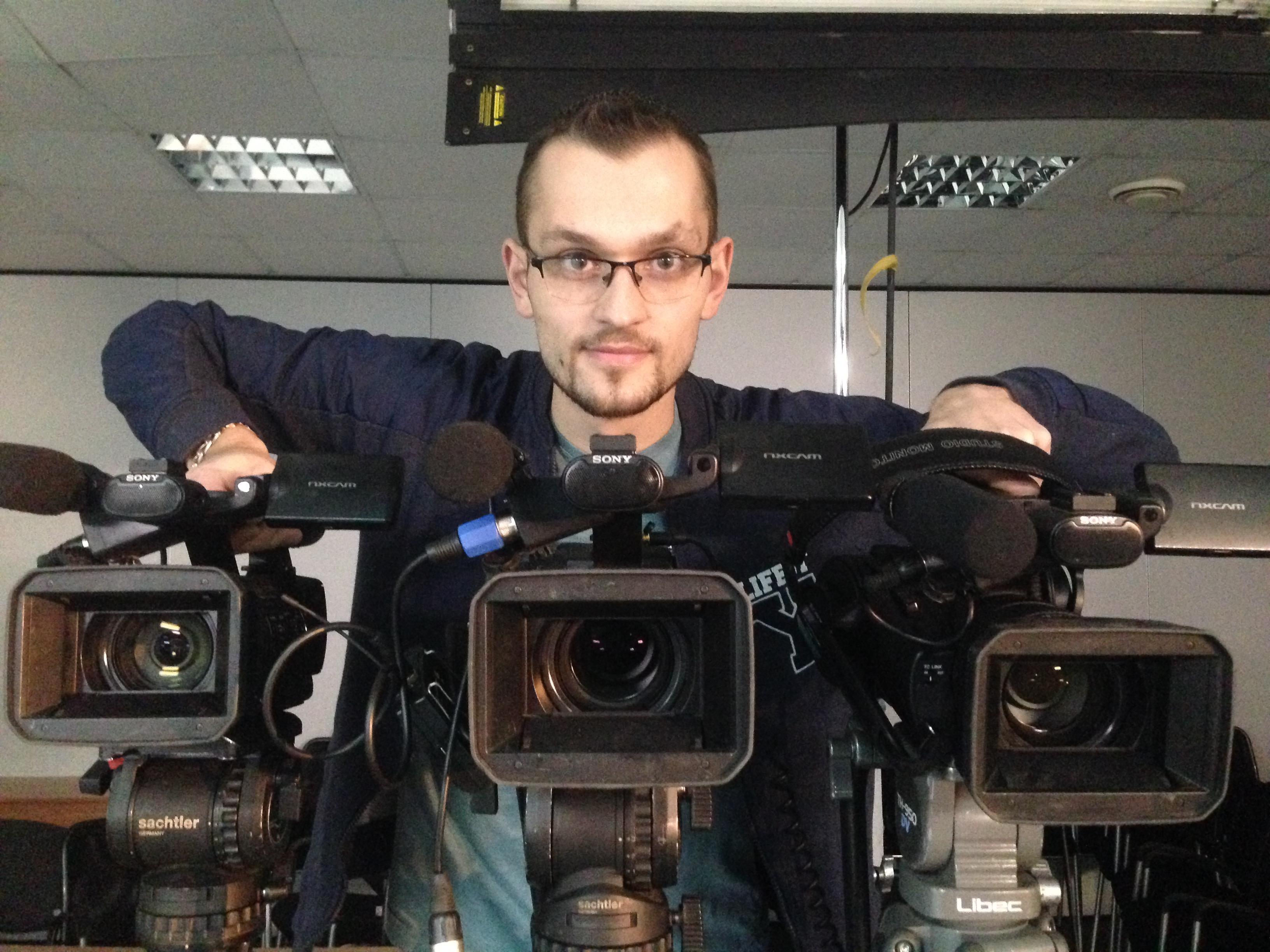 Съемка онлайн урока в три камеры