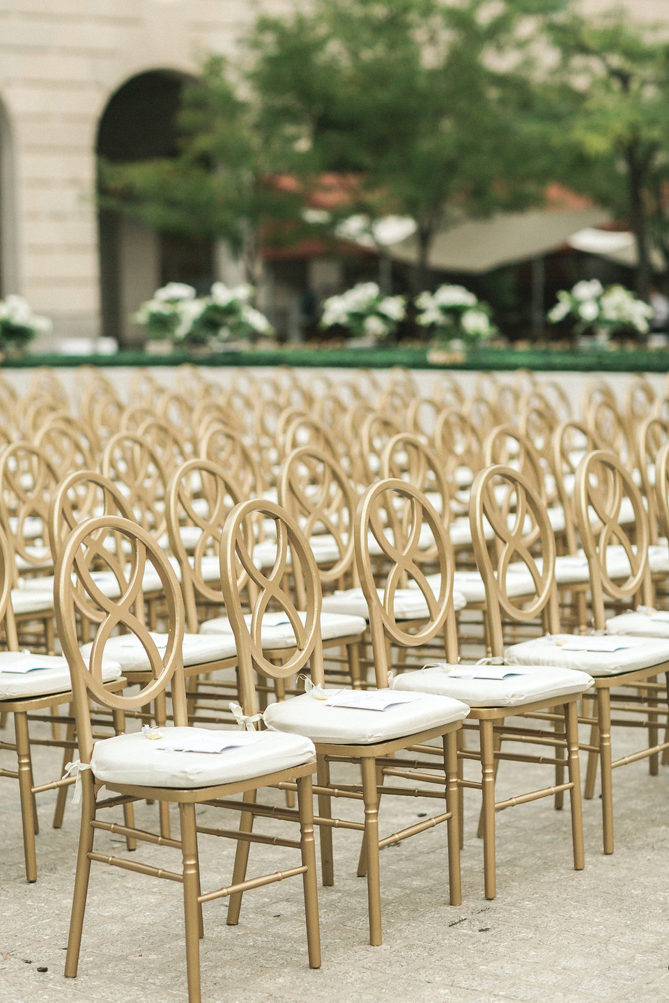 Gold Ceremony Chairs Washington DC Indian Wedding CG & Co Events