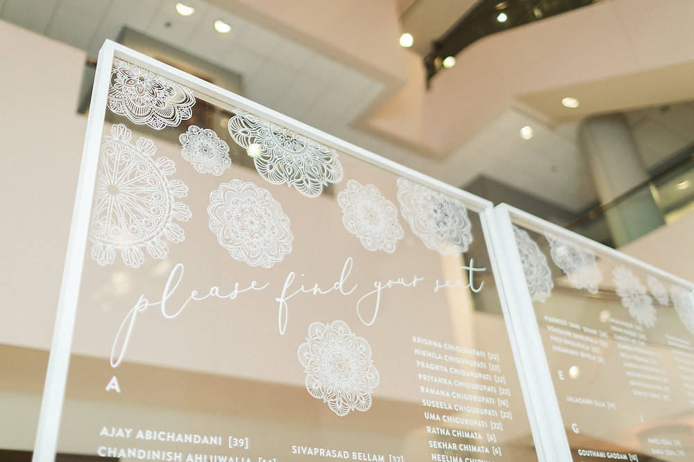 Modern Seating Display Acrylic Escort Card Wall CG & Co Events