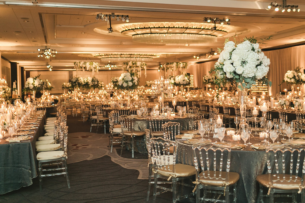 JW Marriott Wedding Washington DC Candlelit Reception CG & Co Events