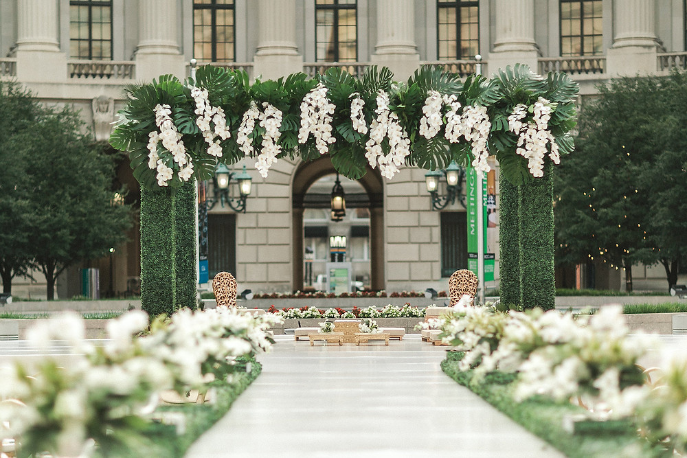 Boxwood and Orchid Mandap Washington DC Indian Wedding