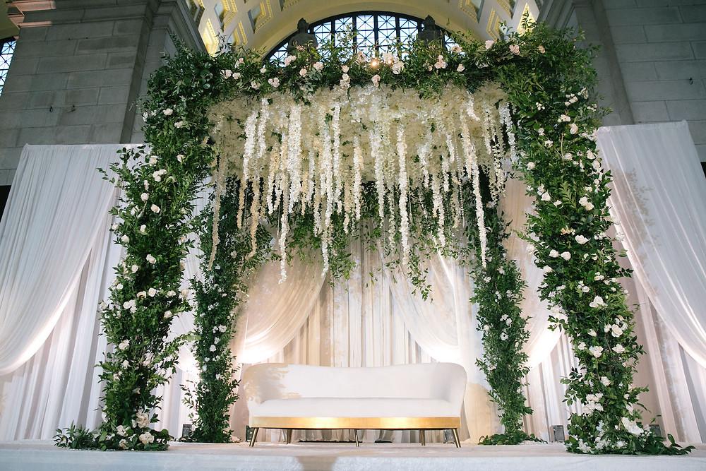 White Wedding Union Station  Washington DC CG & Co Events