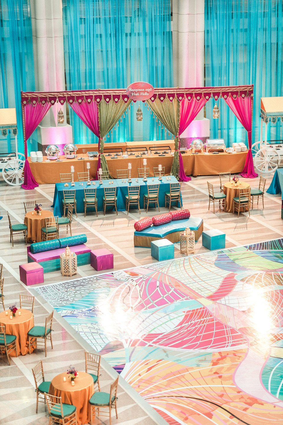 Colorful Indian Sangeet Ronald Reagan Building CG & Co Events