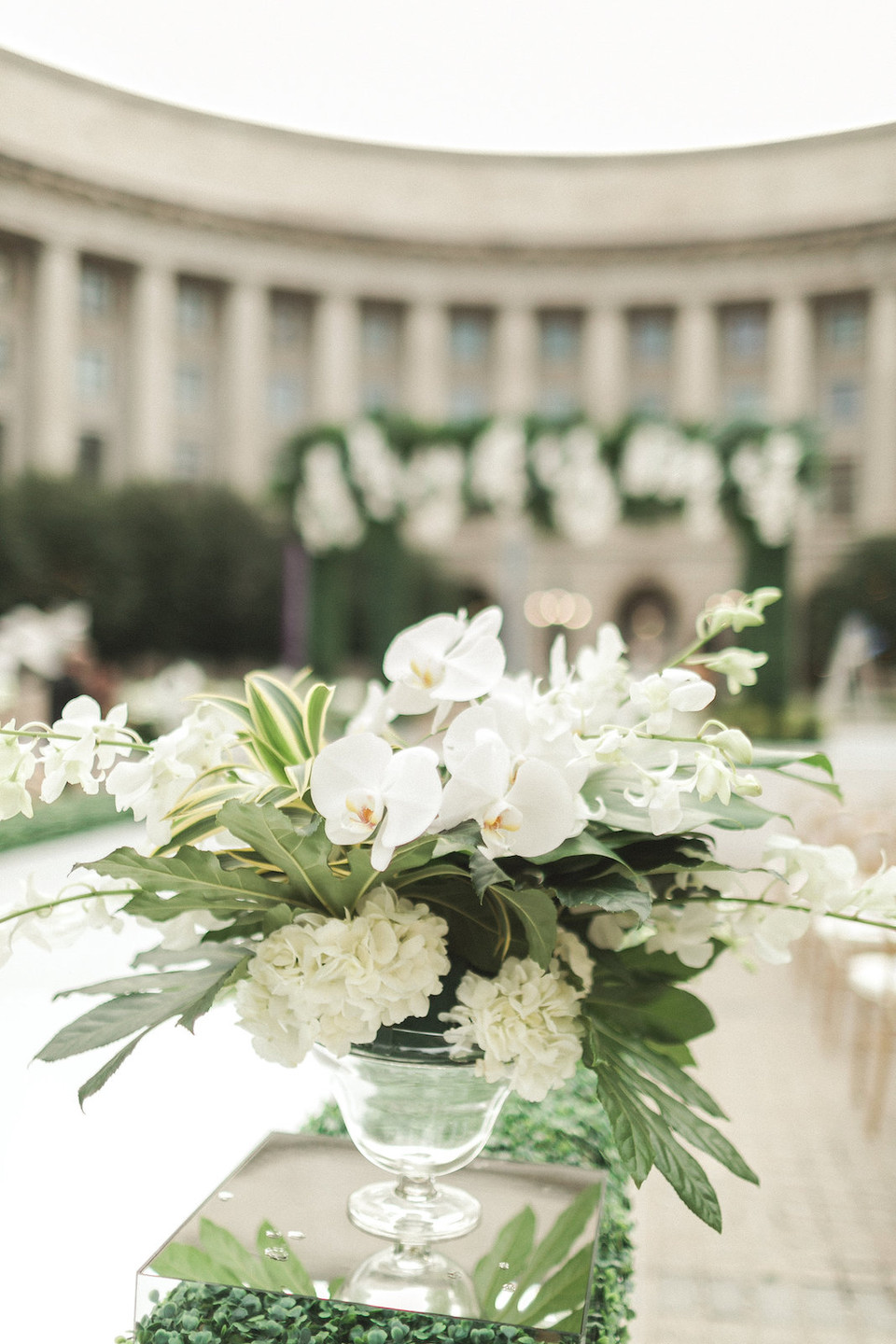 White and Green Wedding Flowers Modern Wedding Washington DC Wedding CG & Co Events