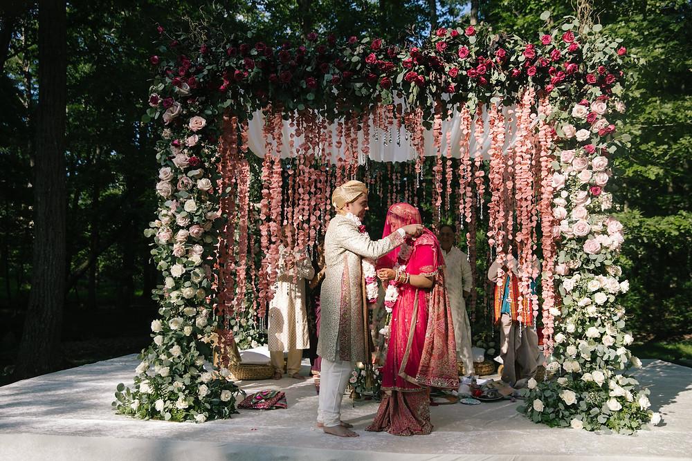 Hindu Wedding Ceremony Mandap Sarah Khan CG & Co Events