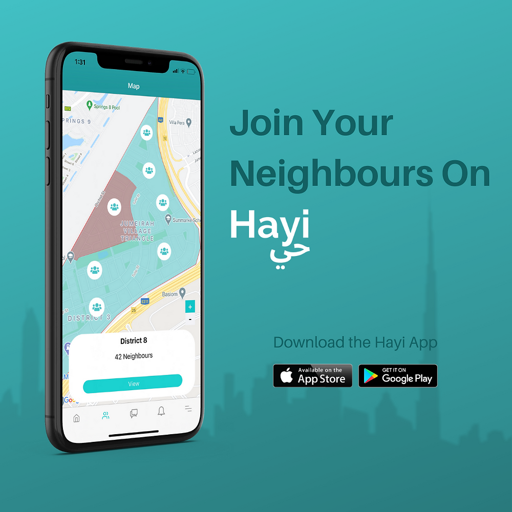 Neighbourhood App in Dubai